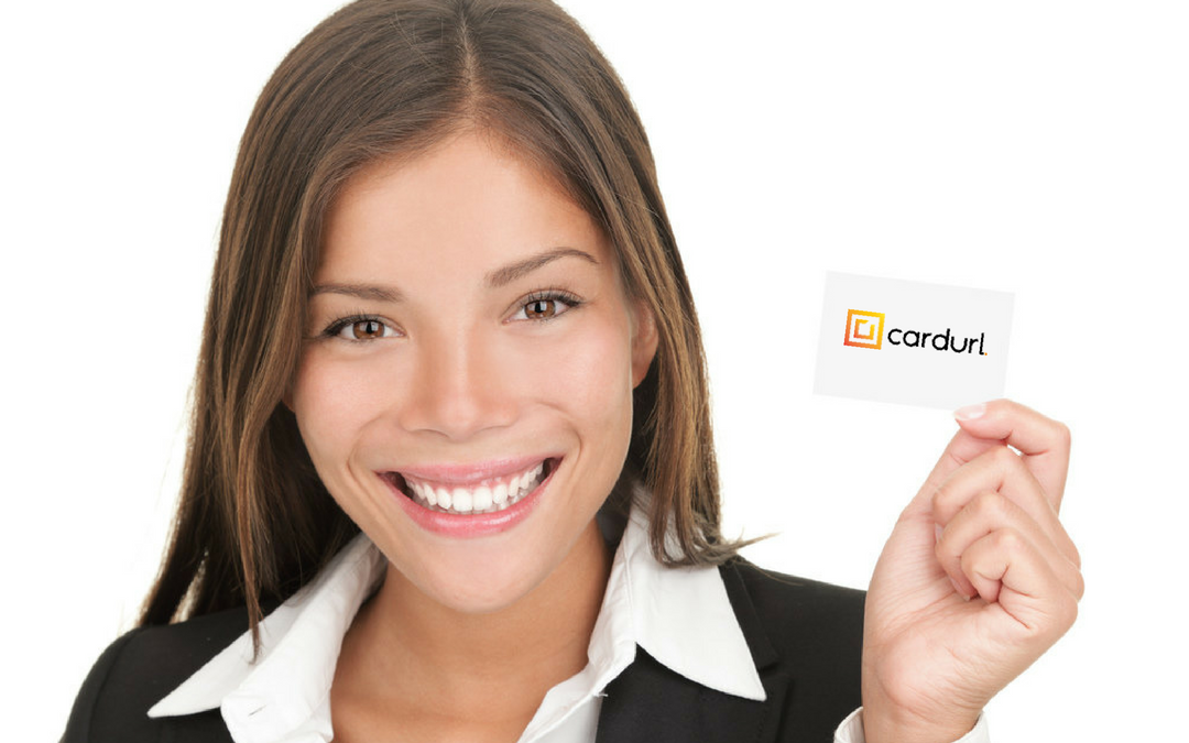 woman-holding-business-cards-cardurl