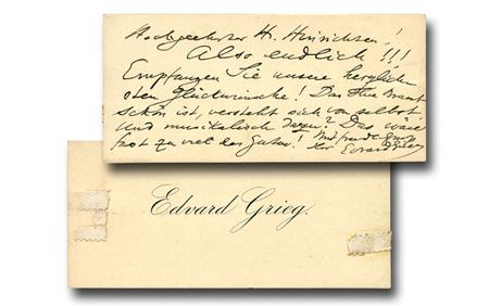 Grieg, Edvard (1843-1907) Norwegian composer