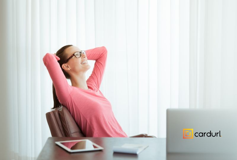 Business woman resting in office
